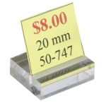 "Acrylic Sign Holder: 4"" x 2.5"""
