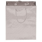 "Roman Silver Tote Bag: 3"" x 2"" x 10"", Pack of 10"