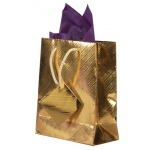 "Brushed Gold Tote Bags: 3"" x 2"" x 3.5"", Pack of 10"