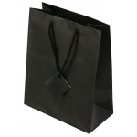 "Black Stripes Tote Bags: 3"" x 3"" x 10"", Pack of 10"