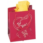 "Red For You Tote Bag: 3"" x 2"" x 10"", Pack of 10"
