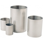 "Stainless Steel Flask: 2.0"" x 2.5"""