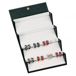 16-Pair Earrings Folding Box: Black